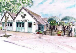 drawing of Garden City Brewery Letchworth