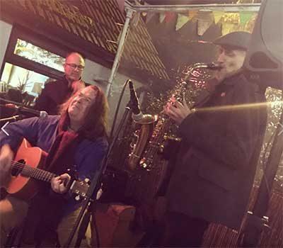 band playing at Brewery