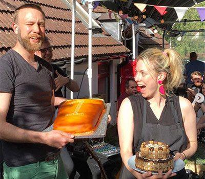 Garden City Brewery anniversary cake