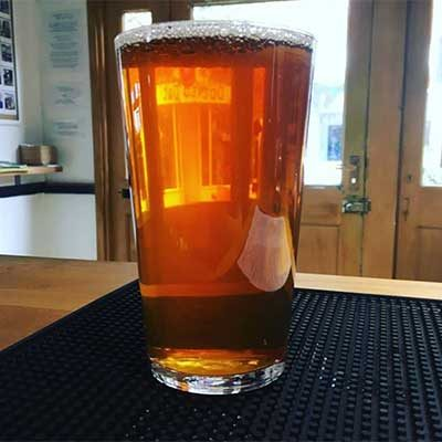 pint of Garden City Brewery ale