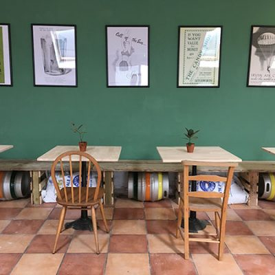 interior of Garden City Brewery